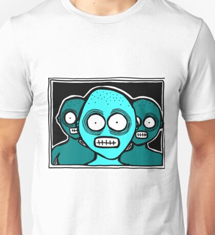 Three Chilling Grins BLUE THEME Unisex T-Shirt