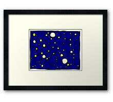 Mapping the Galaxy COLORIZED INDIGO GOLD Framed Print