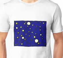 Mapping the Galaxy COLORIZED INDIGO GOLD Unisex T-Shirt