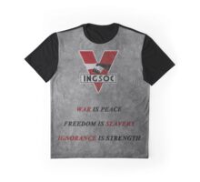 """War is peace..."" 3 Graphic T-Shirt"