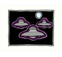 Three Sky Watchers COLORIZED Art Print