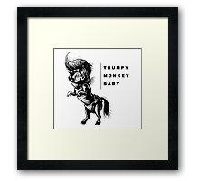 TrumpyDonkeyBaby art Framed Print
