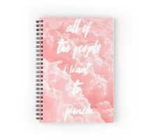 All Of The People I Want To Punch Spiral Notebook