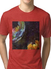Bubble Nebula Outer Space Art Tri-blend T-Shirt