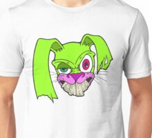 Crazy Bunny (Green And Pink) Unisex T-Shirt