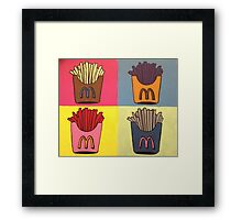 Andy Warhol Style French Fries Framed Print