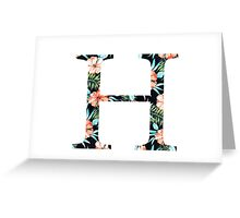 Eta Floral Greek Letter  Greeting Card