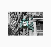Marshall fields clock green chicago black and white photo Unisex T-Shirt