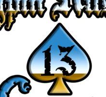 Kingpin Kustoms Garage chrome design Sticker