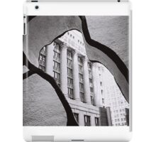 Looking through the sculpture black and white photo iPad Case/Skin