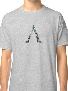 Lambda Floral Greek Letter Classic T-Shirt