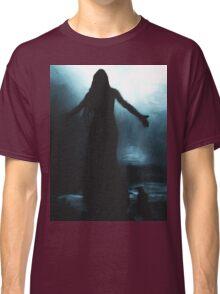 celtic goddess morrigan crow raven rain water woman animal mythical Classic T-Shirt