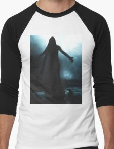 celtic goddess morrigan crow raven rain water woman animal mythical Men's Baseball ¾ T-Shirt