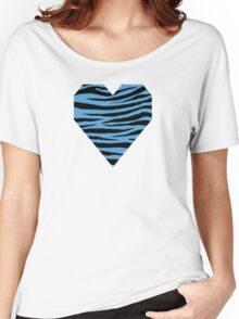 0115 Carolina Blue Tiger Women's Relaxed Fit T-Shirt