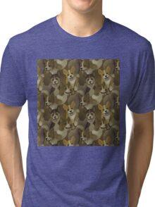 Corgi Swarm Tri-blend T-Shirt