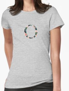 Omicron Floral Greek Letter Womens Fitted T-Shirt