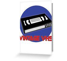 Vintage VHS Greeting Card