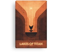 Saturn's Moons - Titan - Lakes of Titan Canvas Print