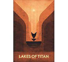 Saturn's Moons - Titan - Lakes of Titan Photographic Print