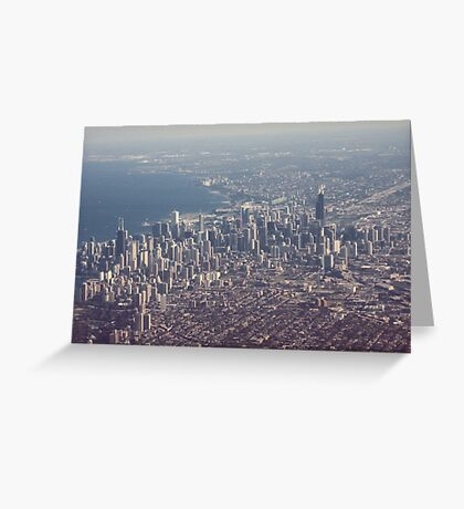 Chicago from the air color photo Greeting Card