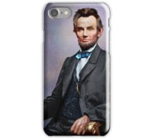 Colorized Abe Lincoln iPhone Case/Skin
