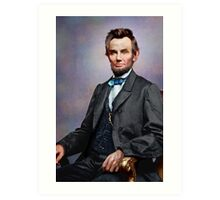 Colorized Abe Lincoln Art Print