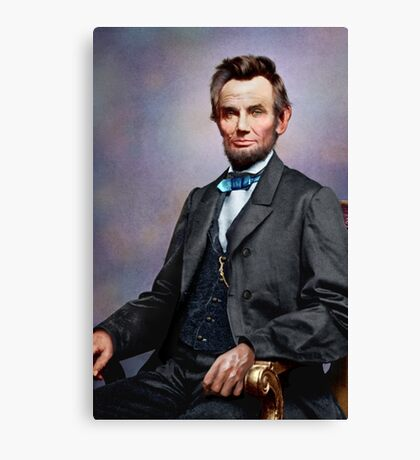 Colorized Abe Lincoln Canvas Print