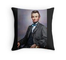 Colorized Abe Lincoln Throw Pillow