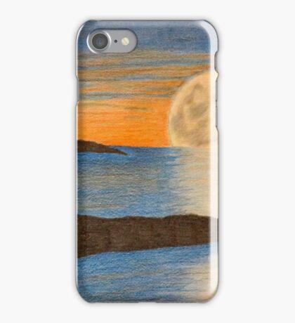 Sunset sailboat iPhone Case/Skin