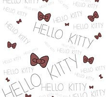 Hello Kitty Pattern with bows! by BlondieAu