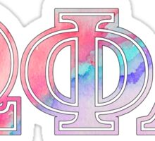 Omega Phi Alpha Watercolor Sticker