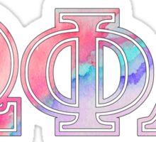 Omega Phi Alpha Watercolor Sticker