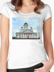 Helsinki Cathedral, Finland Women's Fitted Scoop T-Shirt