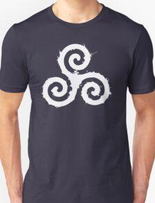 Triskelion 1 White (Splatter) Unisex T-Shirt