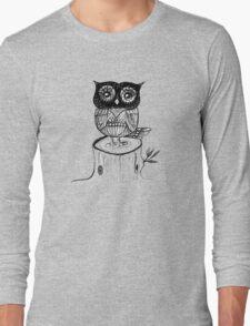 Little Owl Watercolor Long Sleeve T-Shirt