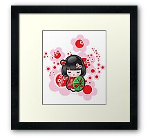 Japanese Kokeshi Doll Framed Print