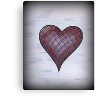 Checkered Heart Canvas Print