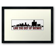 The City of Detroit Framed Print