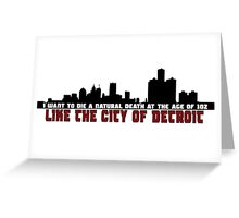 The City of Detroit Greeting Card