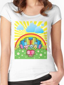 Love Tokyo! Women's Fitted Scoop T-Shirt