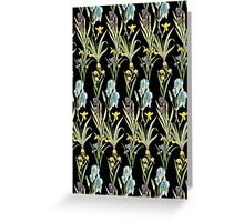 Vintage Floral Pattern | No. 2A | Irises Greeting Card
