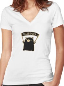 Winnie Fassbender!  Women's Fitted V-Neck T-Shirt