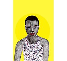 Afro and Dots Photographic Print