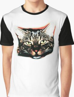Pop art cat face in colour Graphic T-Shirt