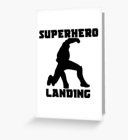 Superhero Landing Greeting Card