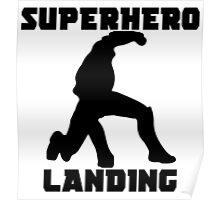 Superhero Landing Poster