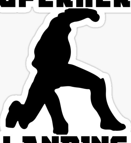 Superhero Landing Sticker