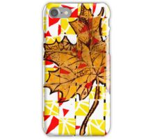 Creative Yellow Leaf iPhone Case/Skin