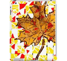 Creative Yellow Leaf iPad Case/Skin