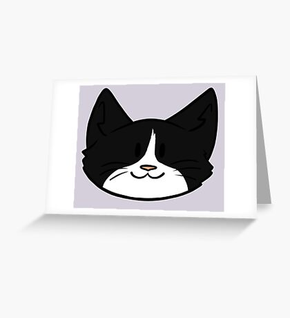 Tuxedo Cat Greeting Card